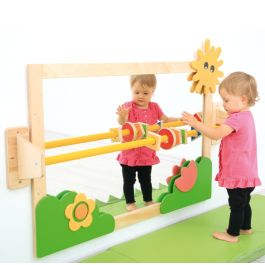 Toddler Mirror with Handrail