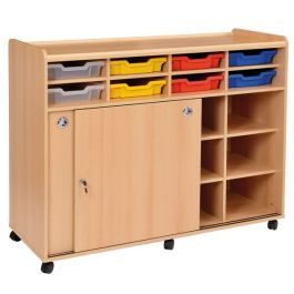 SSS Multi Purpose Classroom Cupboard with 8 Shallow Trays