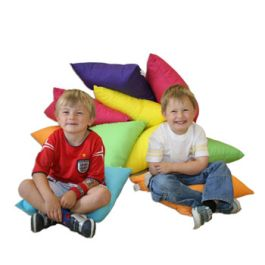 Children's Colourful Floor Cushions - Set of 10