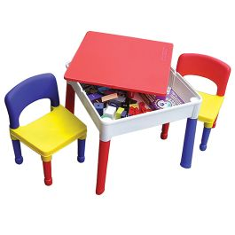 Square Activity Table with Two Chairs