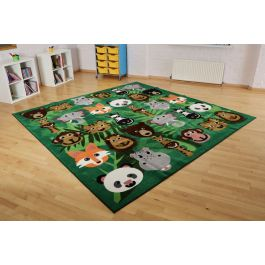 Wild Animals Classroom Carpet