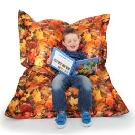 Children's Autumn Leaves Bean Bag Floor Cushion