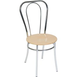 Chrome & Wood Deluxe Bistro Chair