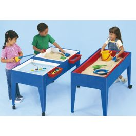 Two Station Sand and Water Table with Lids