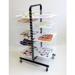Mobile 40 Shelf Drying Rack With Small Shelf