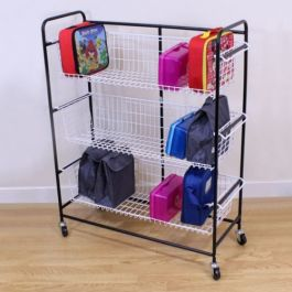 Mobile Wire Lunchbox Trolley