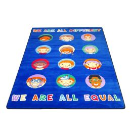We Are All Equal Classroom Rug