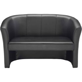 Next Day Arctic Faux Leather Tub Reception Sofa