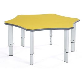 Metalliform Flower Height Adjustable Tables