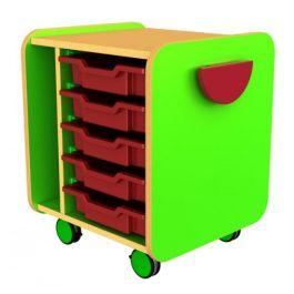Funky Single Mobile 5 Tray Storage Unit