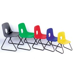 Hille E Series Skid Base Classroom Chairs