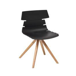 Hoxton Polypropylene Bistro Side Chair - Beech Frame