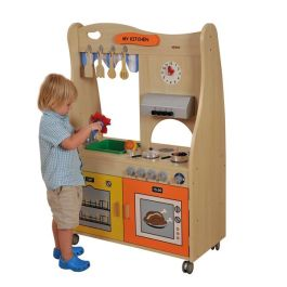 Mobile Pretend Play Kitchen Station