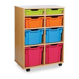 Monarch Variety 8 Tray Storage Unit - Maple