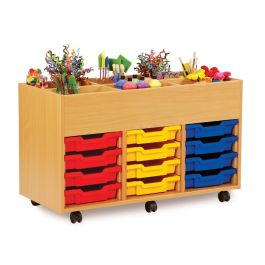 Monarch 6 Bay Kinderbox with 12 Shallow Trays - Beech