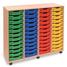 Monarch 48 Shallow Tray Storage Unit - Beech