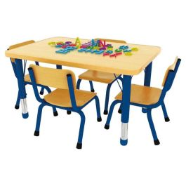 Milan 4 Seater Height Adjustable Rectangle Classroom Table