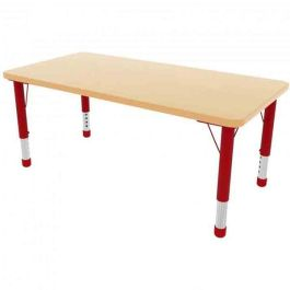 Milan 6 Seater Height Adjustable Rectangle Classroom Table
