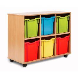 Monarch 6 Jumbo Tray Storage Unit - Maple
