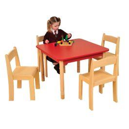 Square Coloured Beechwood Classroom Table