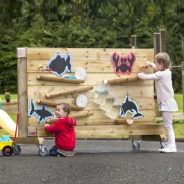 Millhouse Outdoor Wooden Recycling Waterwall