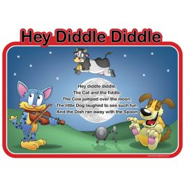 Children's Hey Diddle Diddle Outdoor Picture Board