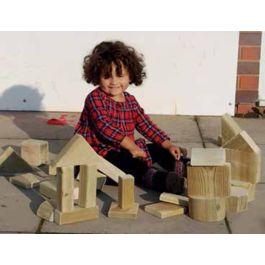 Outdoor Wooden Play Blocks, Set 20