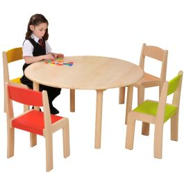 Natural Beechwood Round Classroom Table