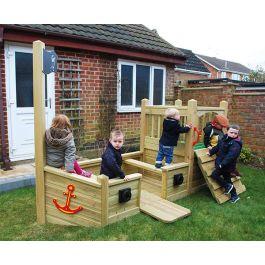 Children's Mini Pirate Ship Play Centre