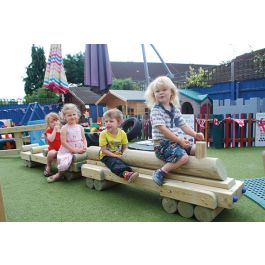 Outdoor Wooden Play Train