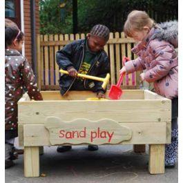 Wooden Outdoor Freestanding Sandbox