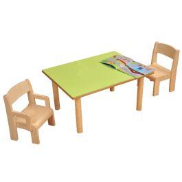 Wooden Rectangular Nursery Classroom Table