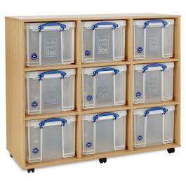 Monarch Really Useful 9 x 35L Classroom Storage Unit