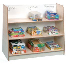 Freestanding Book Shelf with Drywipe Back