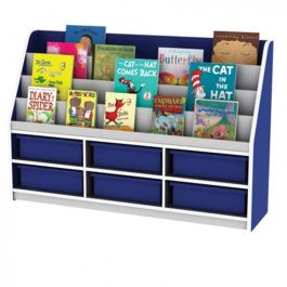 Thrifty Book Display with 6 Shallow Trays