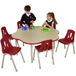 Thrifty 6 Seater Height Adjustable Flower Classroom Table