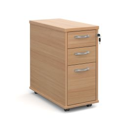 Tall Slimline Mobile Pedestal with Silver Handles