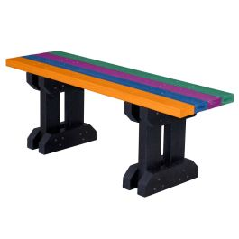 Toucan Junior Trestle Style Recycled Plastic Outdoor Bench