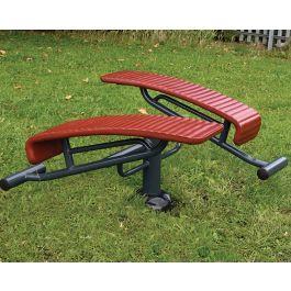 Children's Double Sit Up Bench Outdoor Gym Equipment