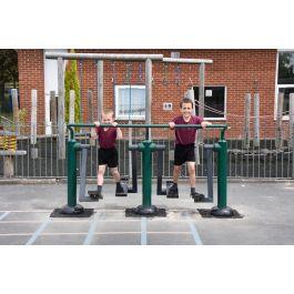 Children's Double Health Walker Outdoor Gym Equipment