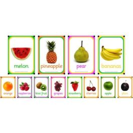 A4 Outdoor Learning Boards - Photo Fruit