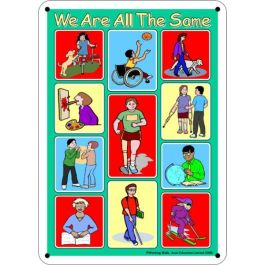 Outdoor Learning Board - Illustrated Disabilities