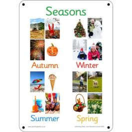 Outdoor Learning Boards - Photo Seasons