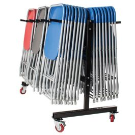 Zlite 60 x Straight Back Folding Chair & Hanging Trolley Deal